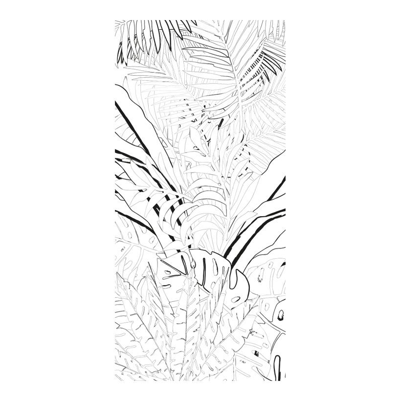 """# Motivdruck """"Grafischer Dschungel"""", 180x90cm Stoff"""