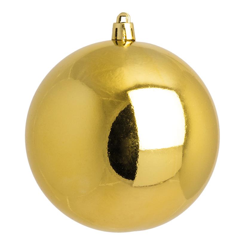 Weihnachtskugel, gold glänzend, Ø 10cm