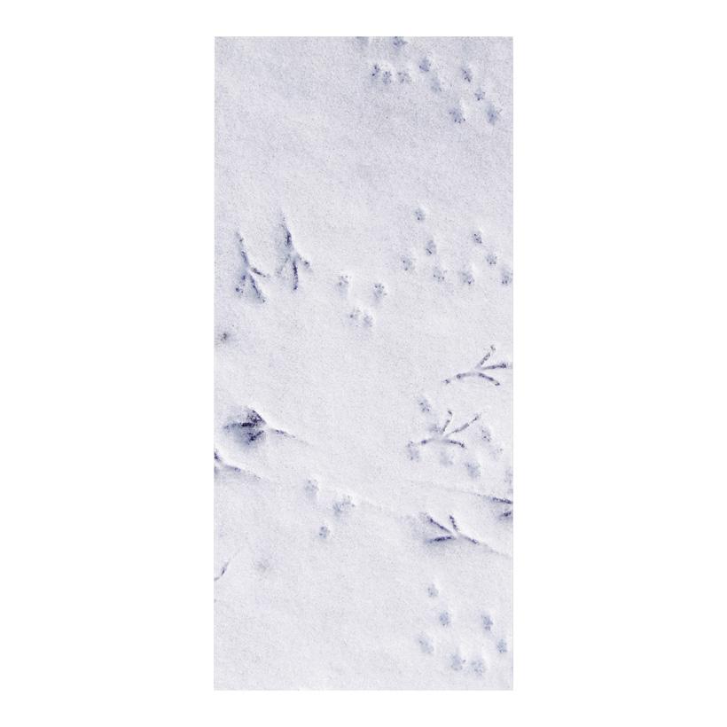 """# Motivdruck """"Spuren im Schnee"""", 180x90cm Papier"""