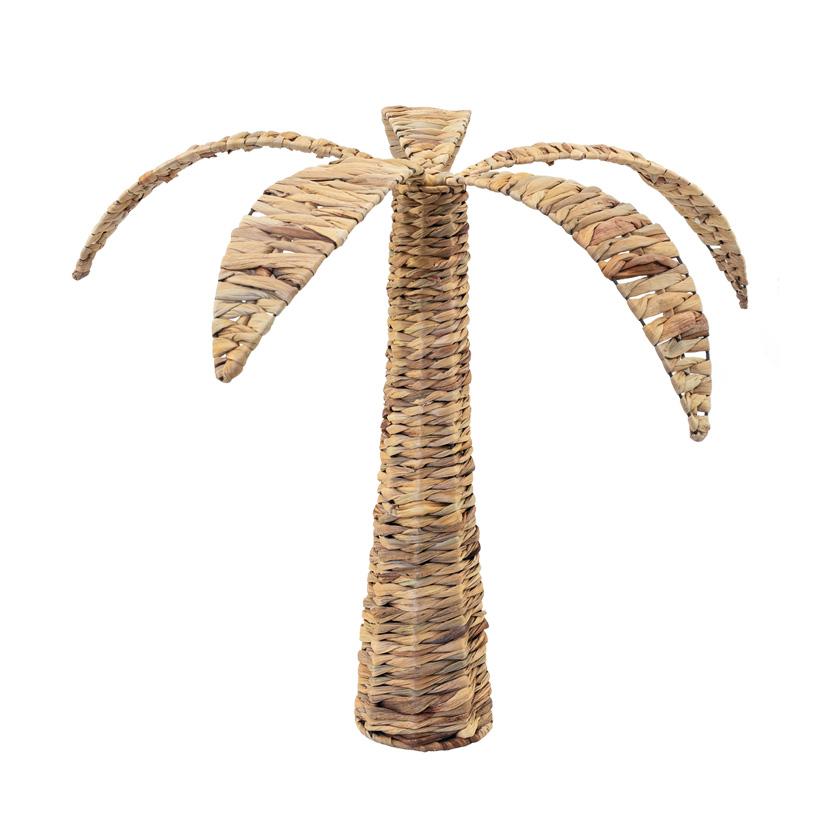 Palme, Ø: 68cm H: 50cm aus natürlichem Flechtmaterial, mehrteilig