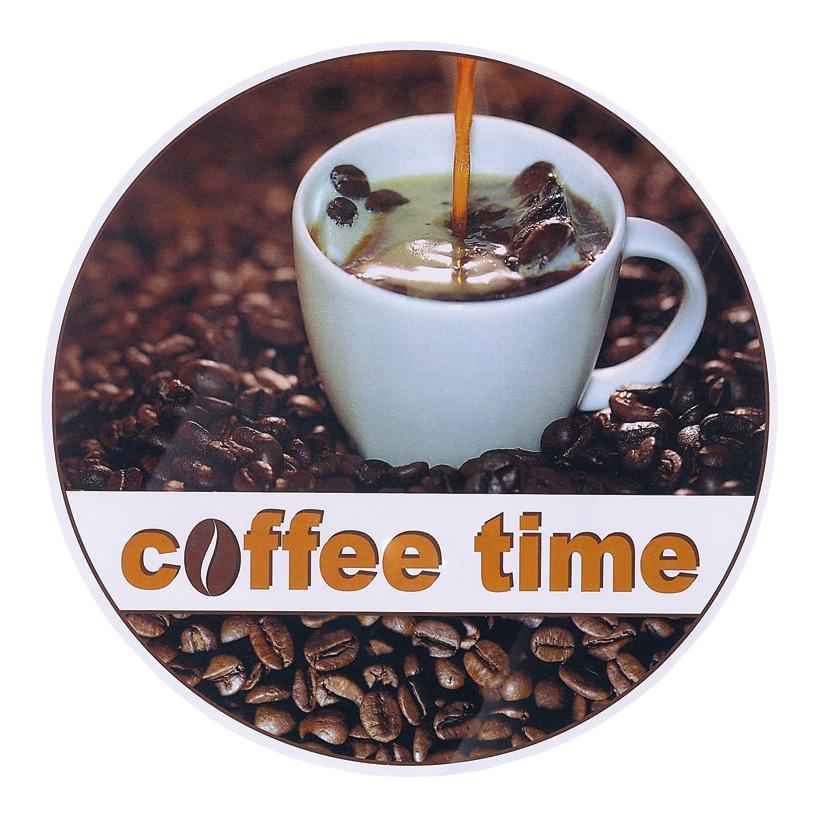 """# Kaffeehänger """"coffee time"""" 28 cm Ø beidseitig bedruckt"""