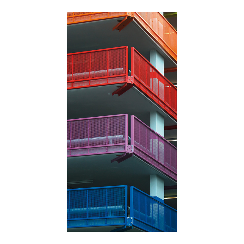 """# Motivdruck """"Parkhausfassade"""" 180x90cm Papier"""