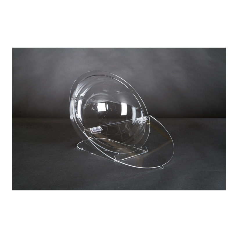 # Acryl-Losbox, 27x33x30cm Halbkugel, mit Klappe & Standfuß