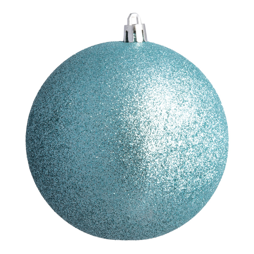 Weihnachtskugel, aqua glitter, Ø6cm 12 St./Blister