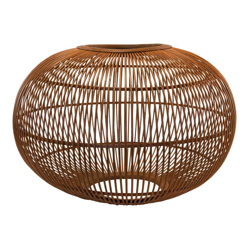 Lampenschirm, 70x70x45cm aus Flechtwerk, aus Holz