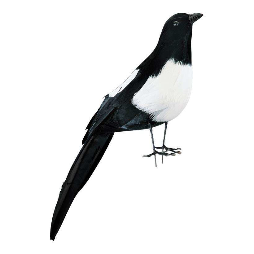 Elster, 32cm, mit echten Federn