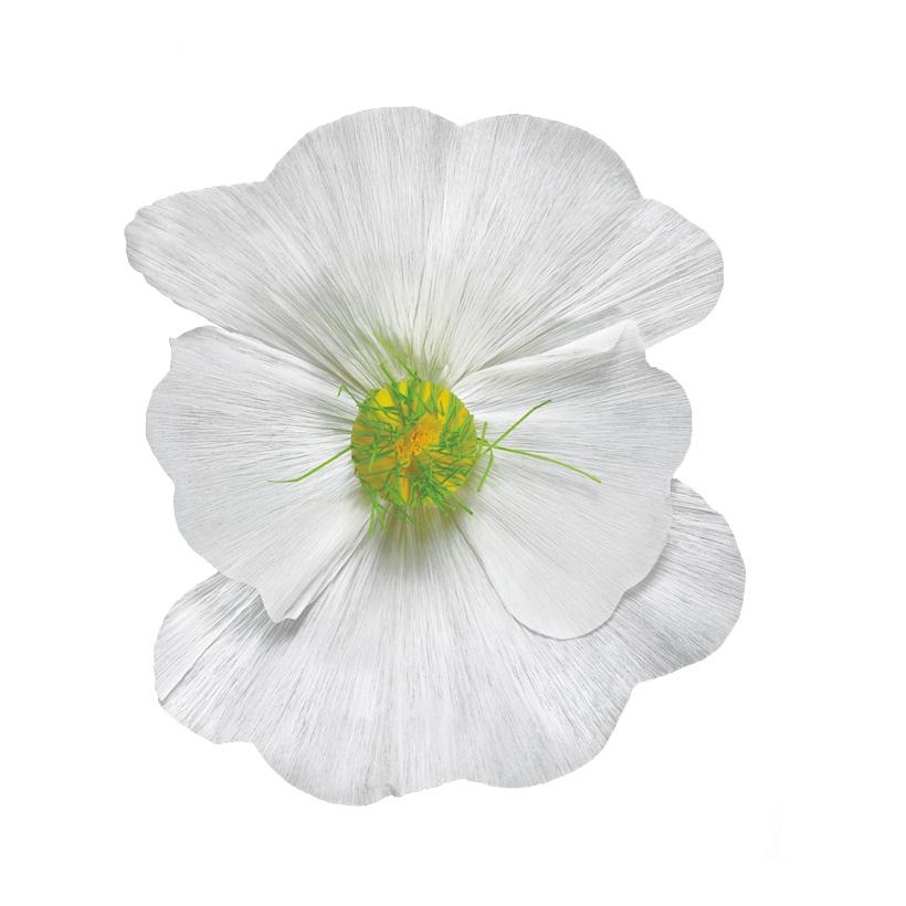 Blüte Ø35cm aus Papier, mit kurzem Stiel