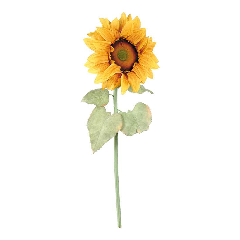Sonnenblume,  Ø 30cm, 100cm, Kunstseide, Blätter beflockt
