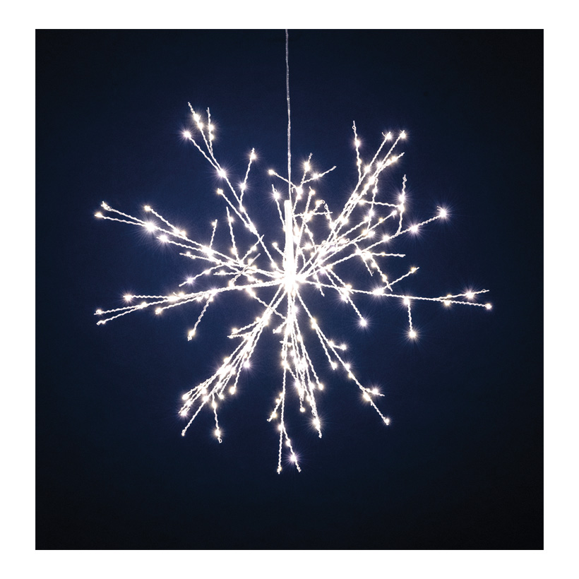 Mikro LED-Eiskristall, Ø 40cm mit 20 Spikes · 14 LEDs, Gesamt: 280 LEDs, 12V,  IP44, 3m Zuleitung