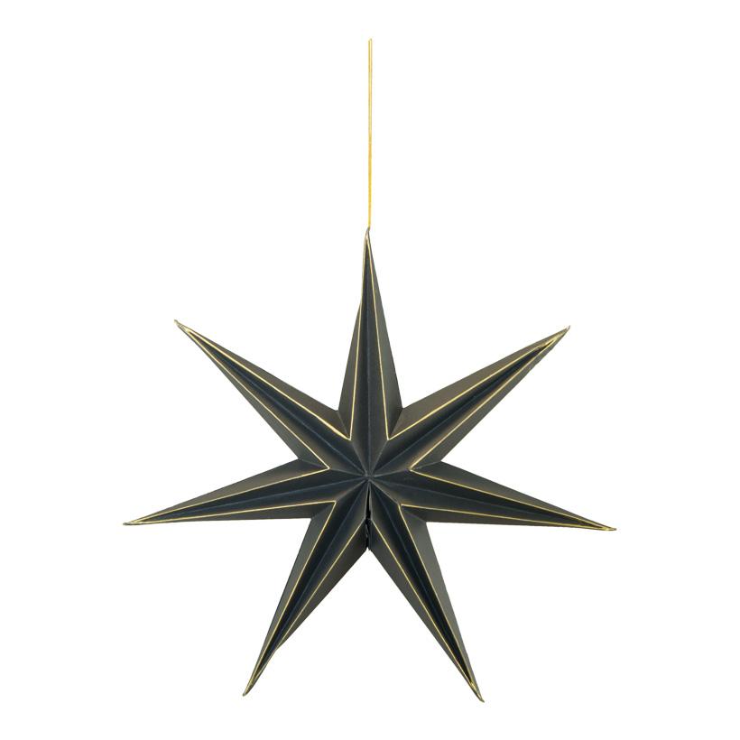 Faltstern, 40cm 7-zackig, mit Hänger, aus Papier, mit Magnetverschluss