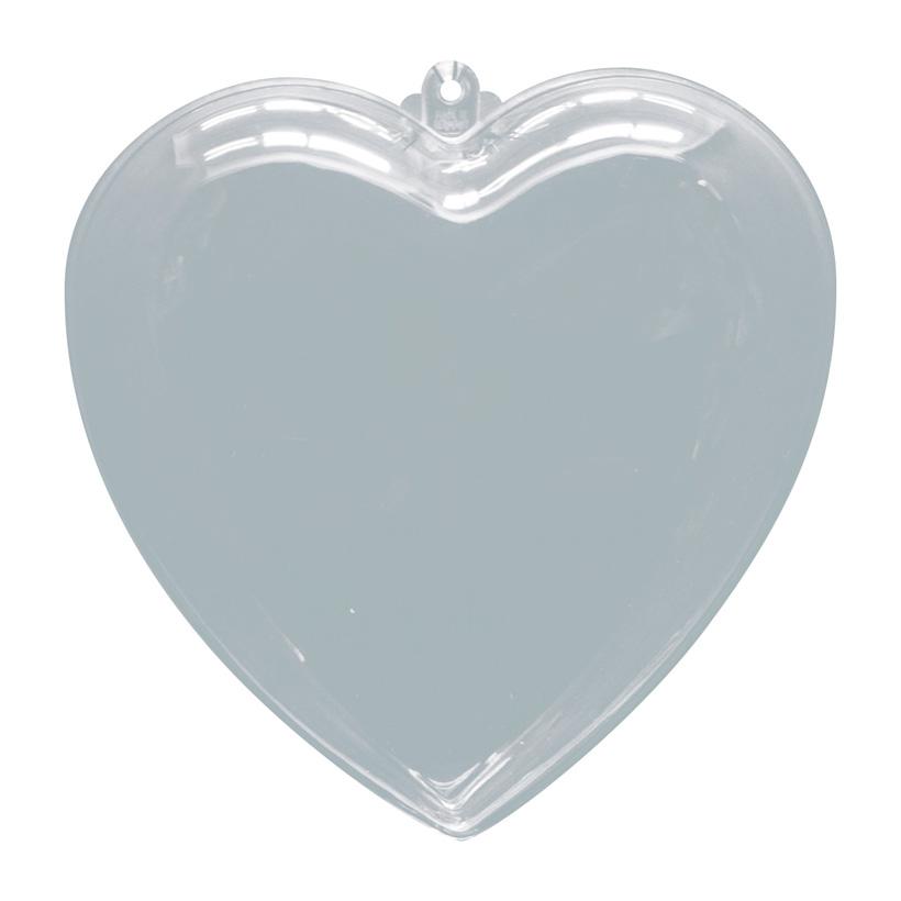 # Herz, Ø 10cm, Kunststoff, 2 Hälften, zum Befüllen