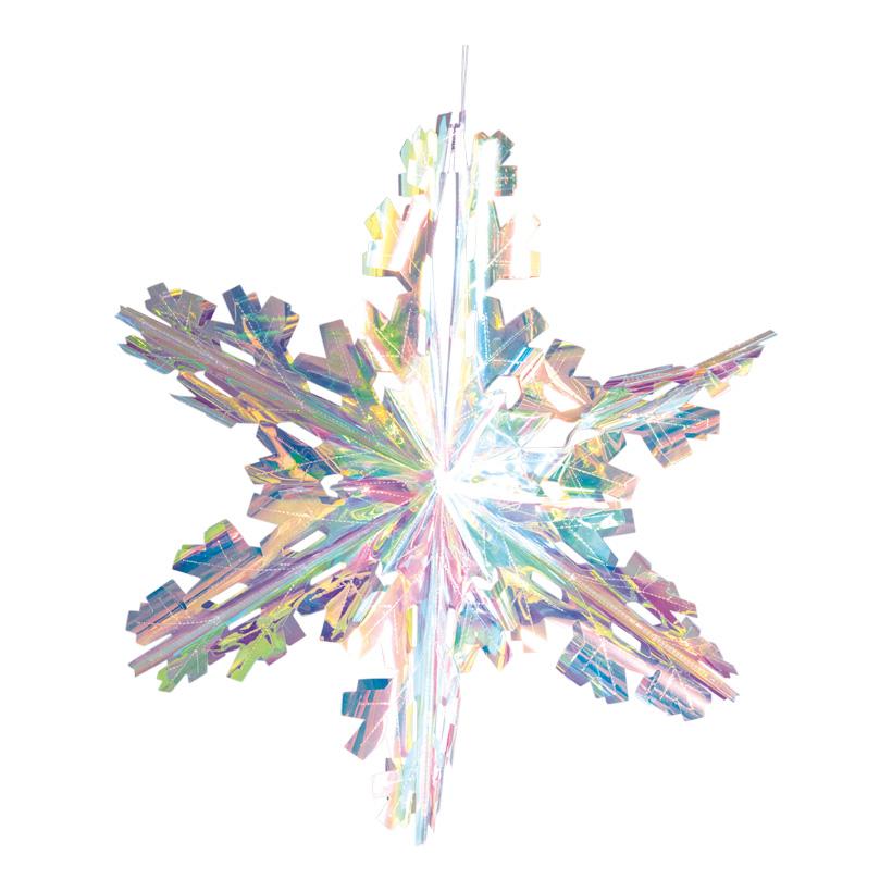 Eiskristall, Ø 60cm faltbar, mit Hänger, holografisch