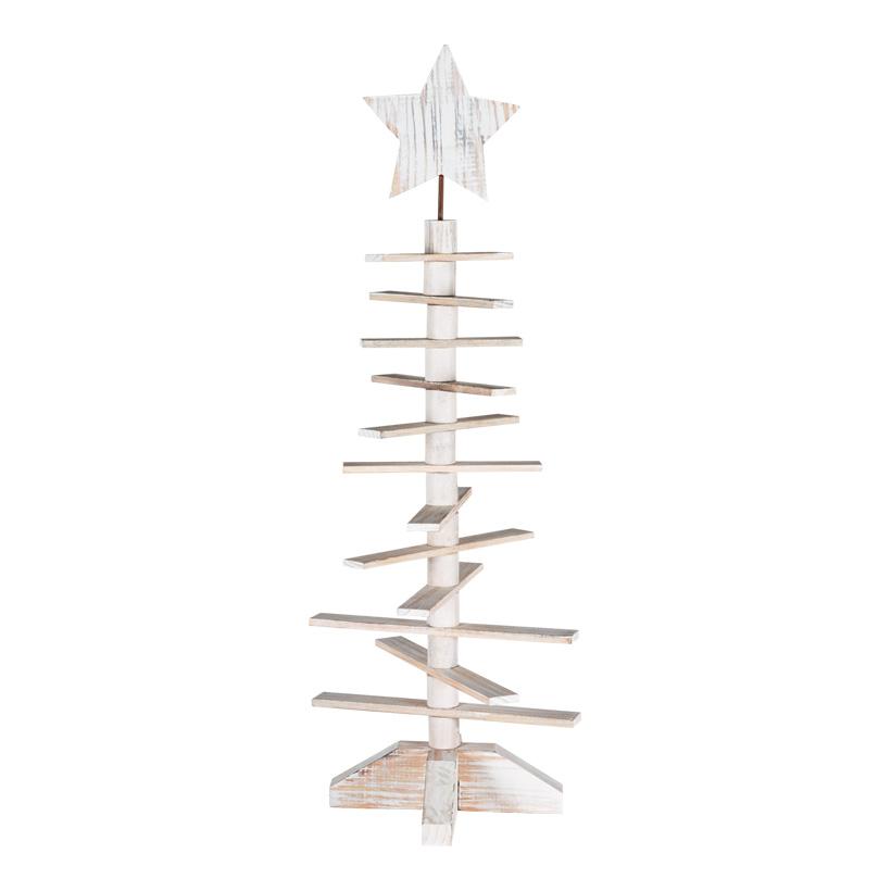 Holzbaum, 95cm, Tannenform, mit 12 Streben+19cm Stern