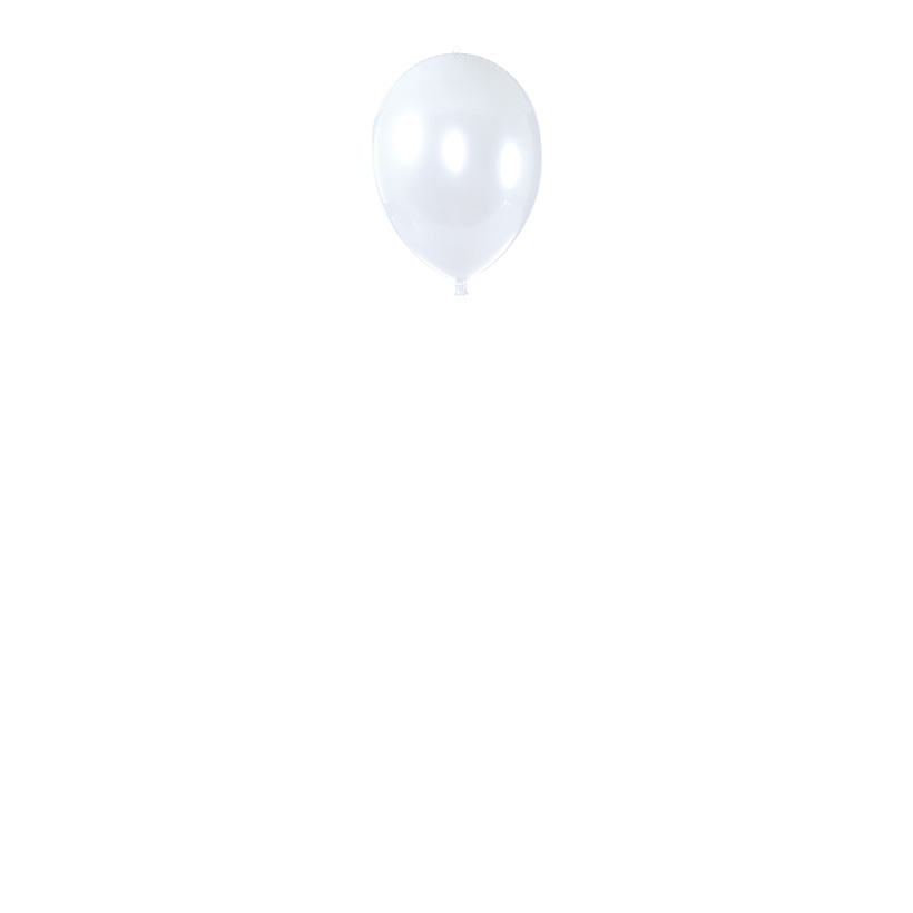 Riesen-Ballon 45x30 cm Kunststoff, glänzend