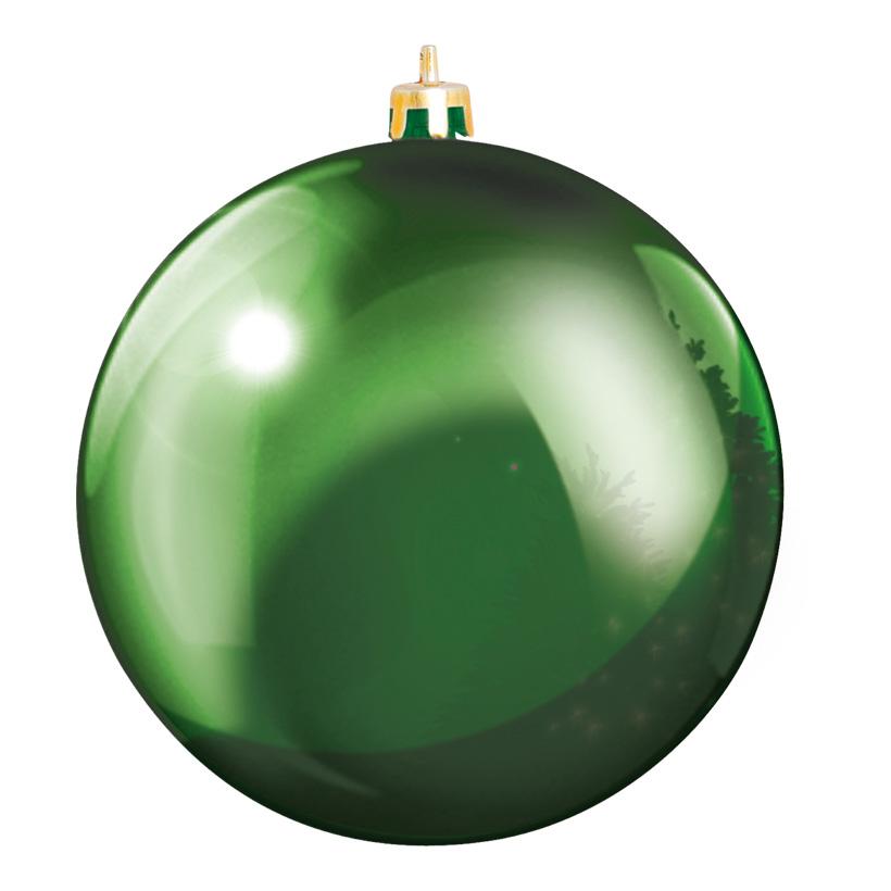 Weihnachtskugel, Grün, êØ 10cm, aus Kunststoff, Schwer entflammbar nach B1, UV-beständig