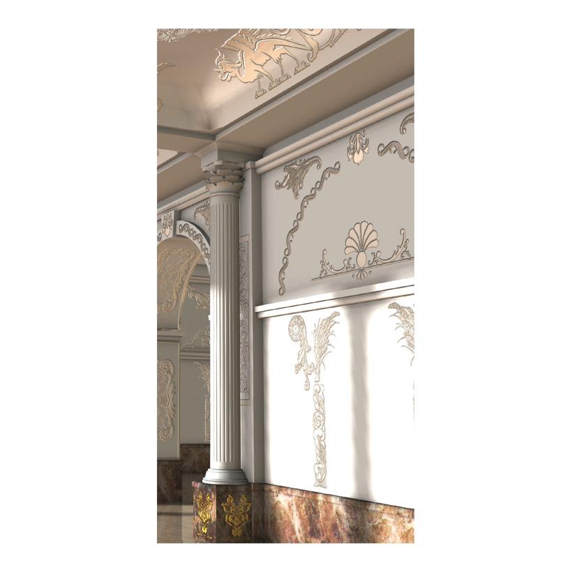 """# Motivdruck """"Schlosssaal"""", 180x90cm Papier"""