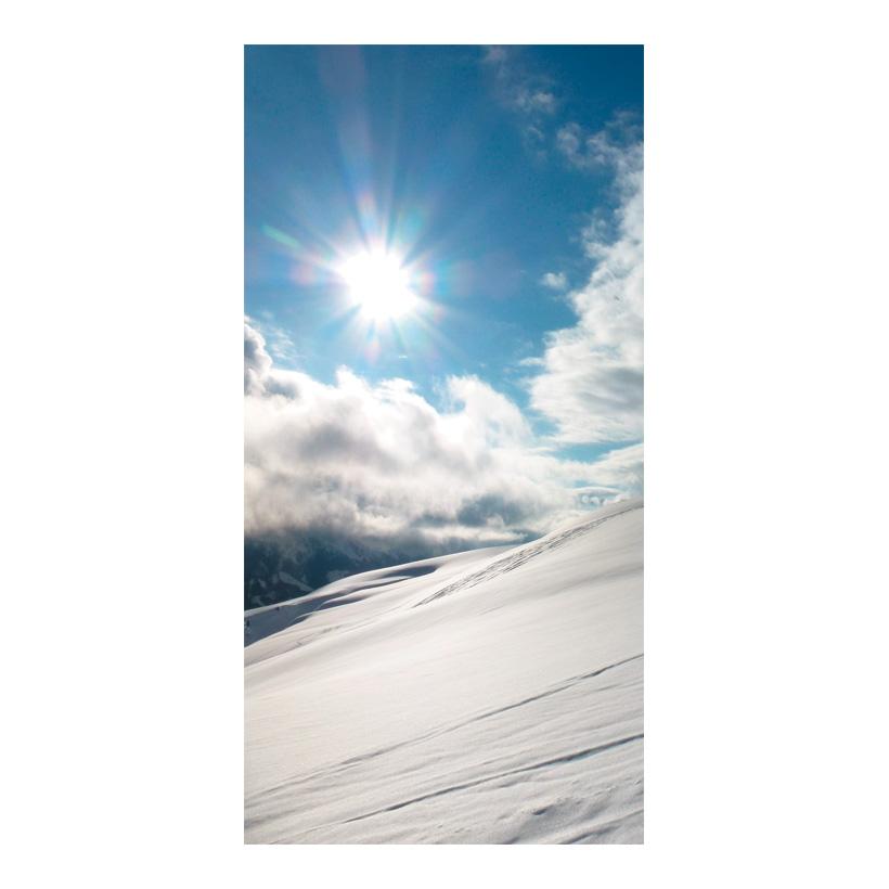 "# Motivdruck ""Wintersonne"", 180x90cm Stoff"