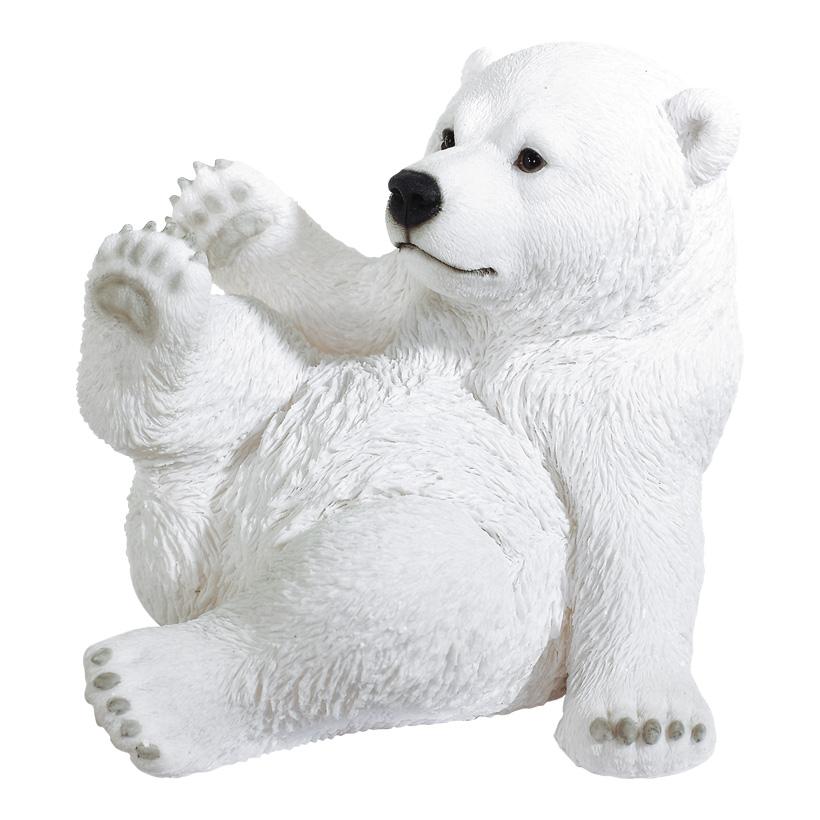 Eisbär 31x26cm witterungsbeständig, aus Kunstharz