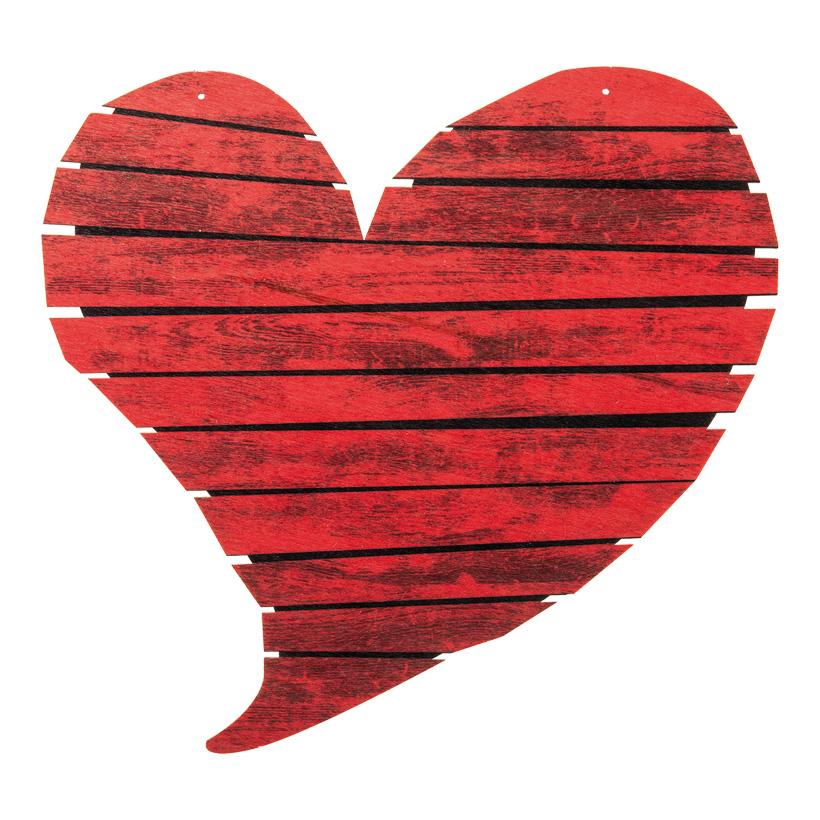 Herz, 34x21cm mit Hängeösen aus Holz