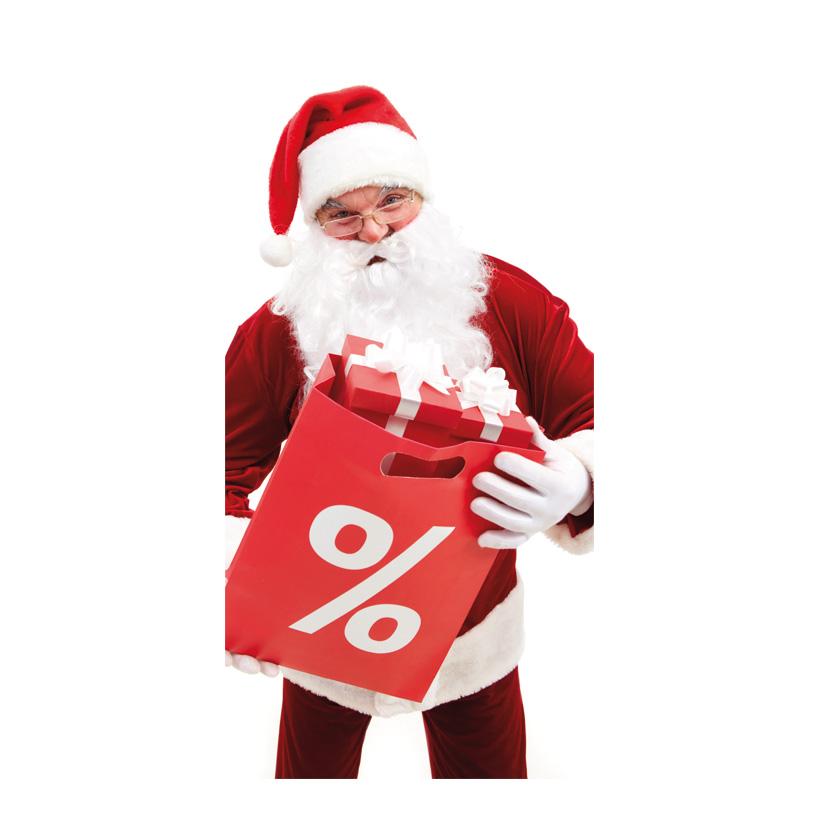 "# Motivdruck ""Santas Sale"", 180x90cm Stoff"