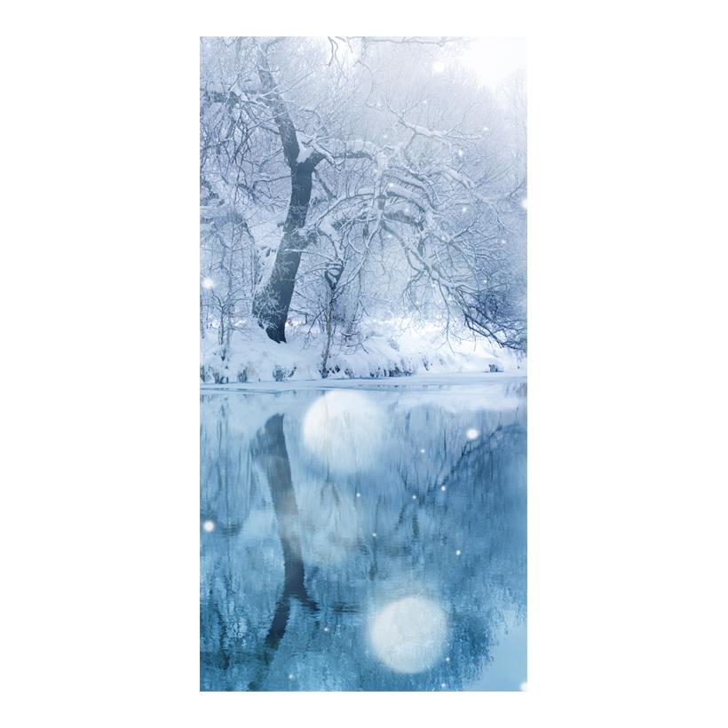 "# Motivdruck ""Wintersee"", 180x90cm Papier"