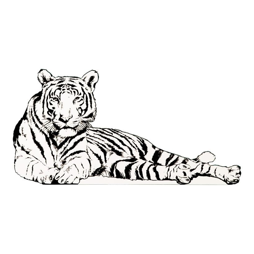 "Cut-Out ""Tiger"", 80x50cm Stütze rückseitig klappbar"