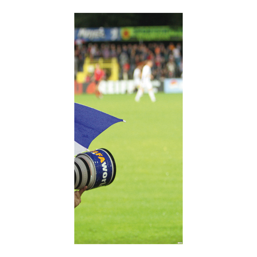"# Motivdruck ""Fußball"", 180x90cm Papier"