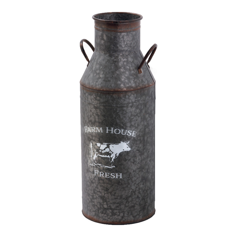 # Milchkanne, 71x26cm aus Blech, mit Griff und Schriftzug