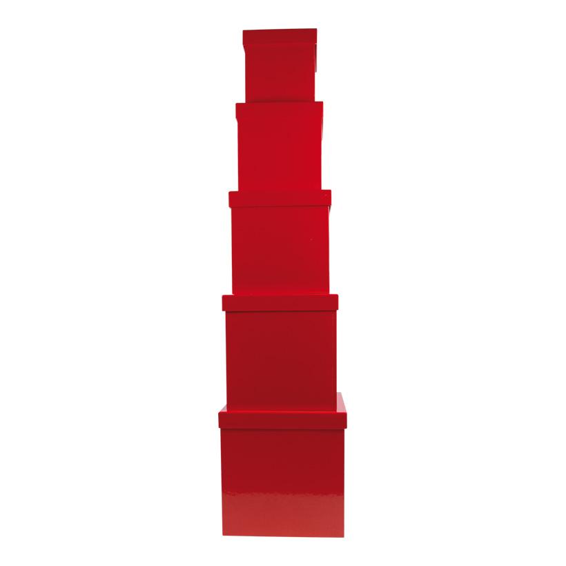 Boxen, würfelförmig, 20cm, 18cm, 16cm, 14cm, 12cm 5Stck./Satz, nestend, Pappe