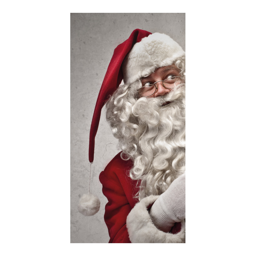 "# Motivdruck ""Funny Santa"", 180x90cm Papier"