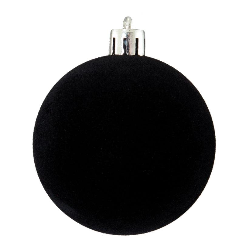 Weihnachtskugeln, beflockt, Ø 6cm 12 St./Blister