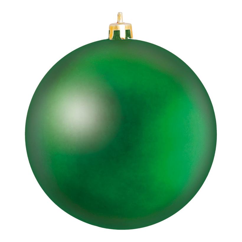 Weihnachtskugel, Mattgrün, êØ 25cm, aus Kunststoff, Schwer entflammbar nach B1, UV-beständig