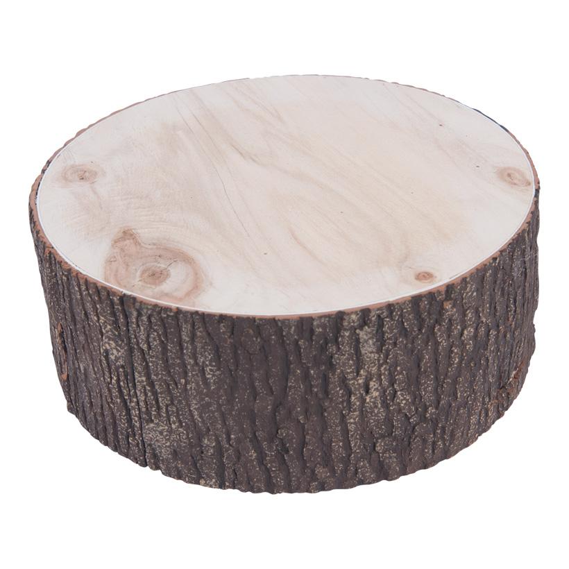 Baumstamm, H: 10cm Ø25cm Holz mit Schaumstoffüberzug