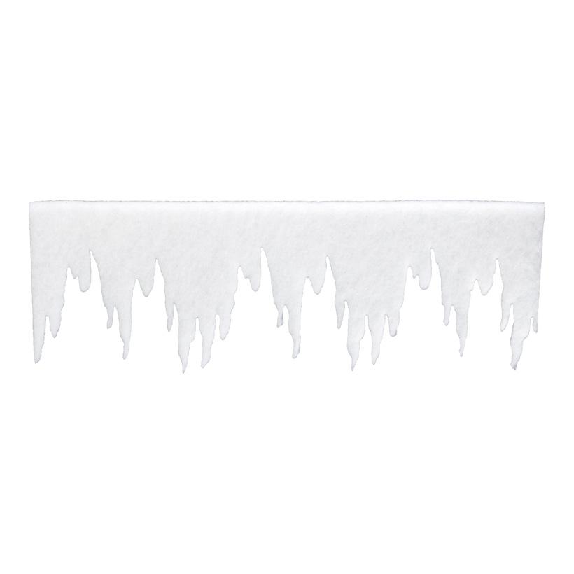 Eiszapfenfries, 100x30cm, aus 2cm Schneematte, schwer entflammbar nach B1