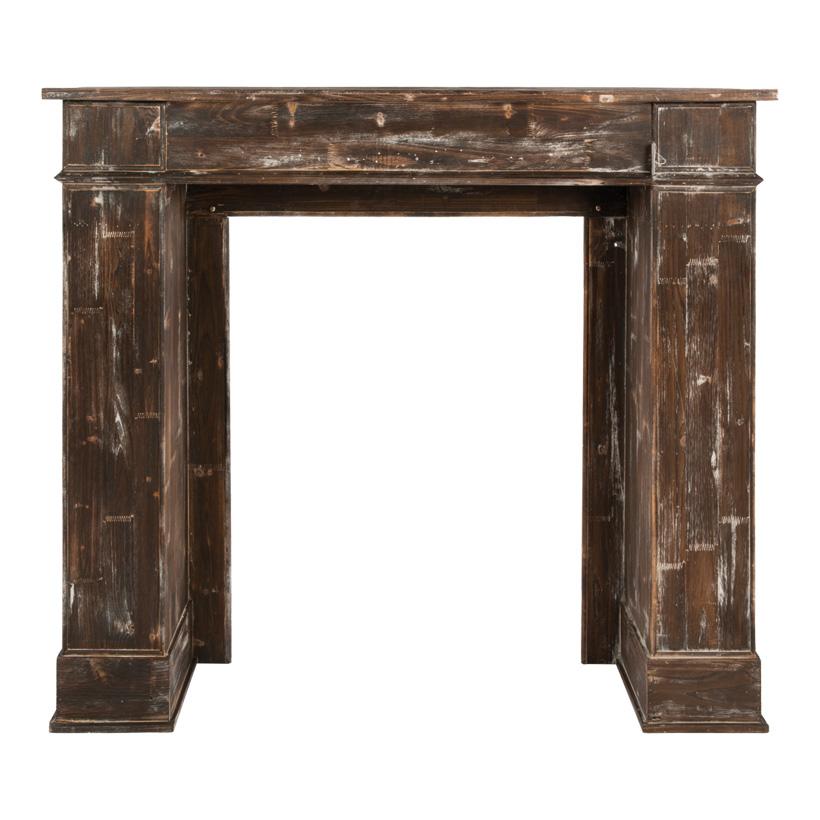 Kamin, 130x110x30cm 3tlg., Holz, used look