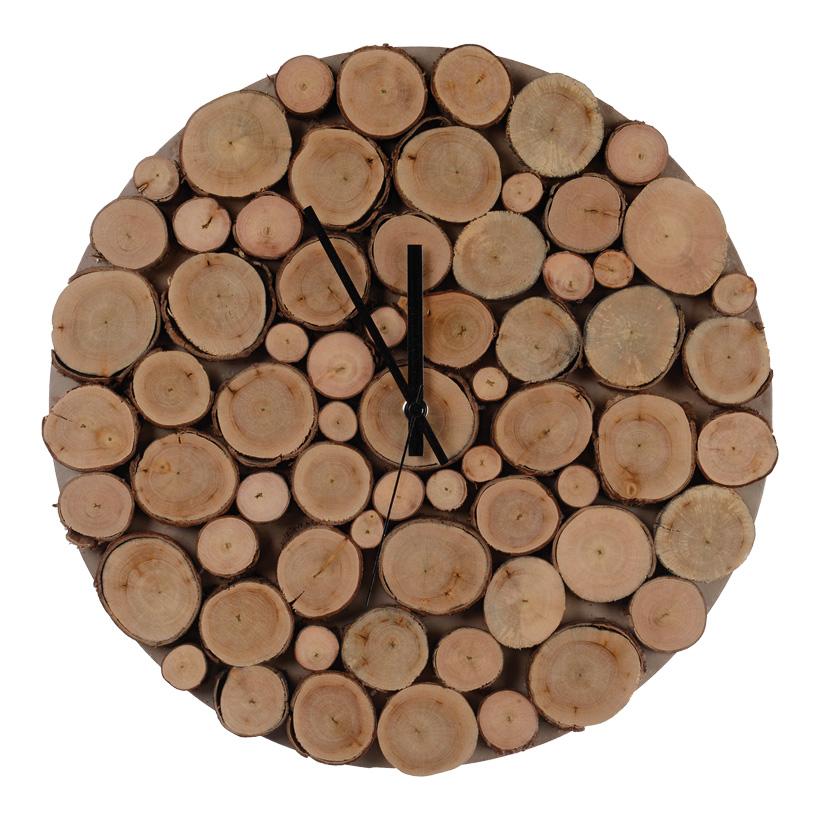 # Holzuhr, Ø 35cm batteriebetrieben