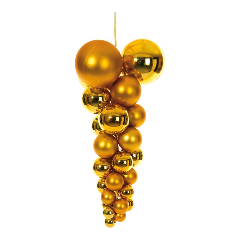 Weihnachtskugelhänger, Ø 30cm, 60cm, Kunststoff, glanz+matt gemischt