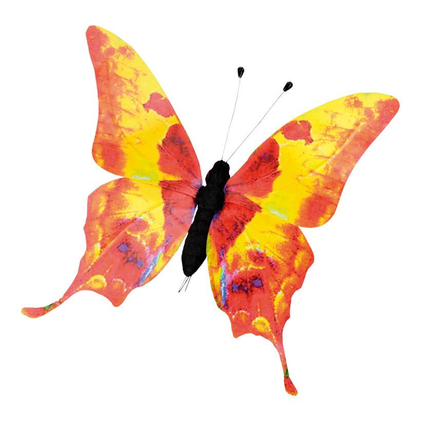Schmetterling, 27x30cm, PVC-Folie, Styrofoam, Metall, wasserresistent