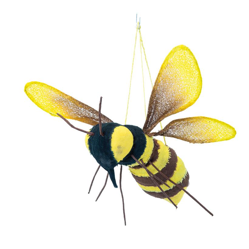 Biene, L: 30cm B: 24cm mit Hänger, aus Styropor & Kunstfaser