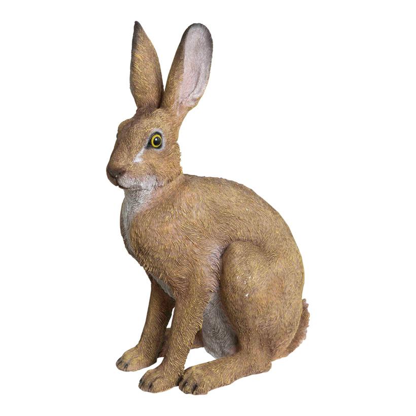 # Hase, sitzend, 41x24x14cm, Polyresin, für Innen und Außen
