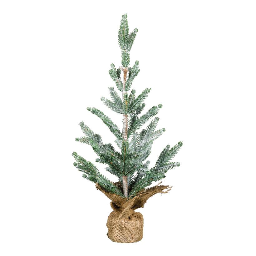 Weihnachtsbaum, 50cm beschneit, im Jutesack, 100% PE-Tips