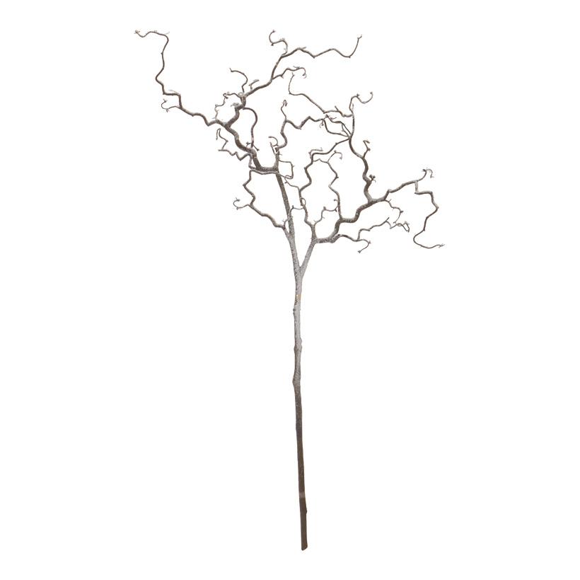 Korkenzieherzweig 125cm, beschneit, Kunststoff, Naturoptik