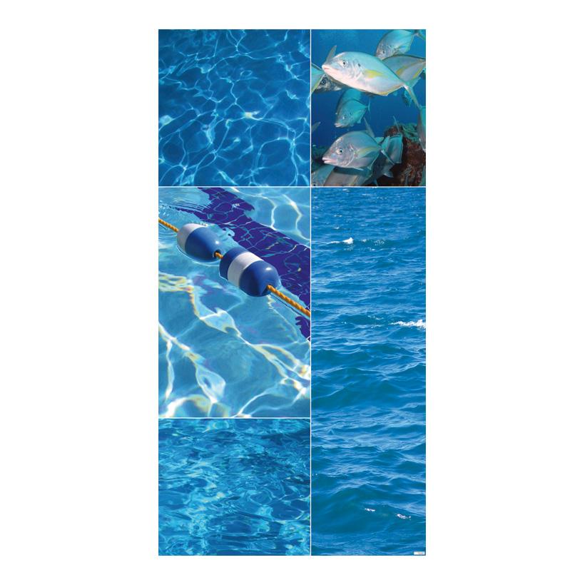 "# Motivdruck ""Aqua"", 180x90cm Stoff"