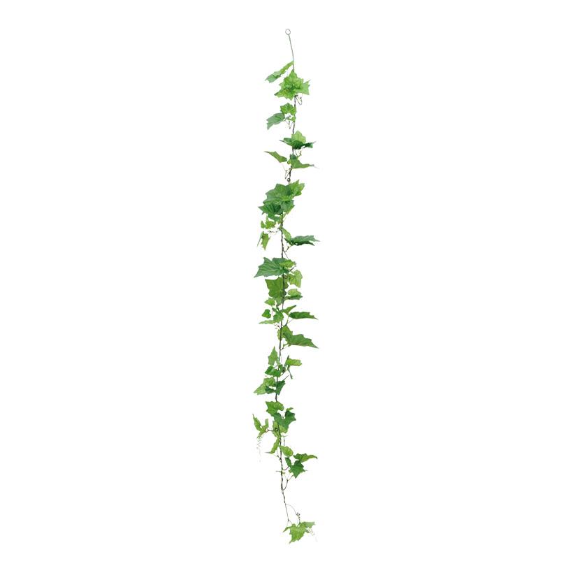 Efeugirlande, Ø 17cm, 180cm, mit 97 Blättern, Kunstseide