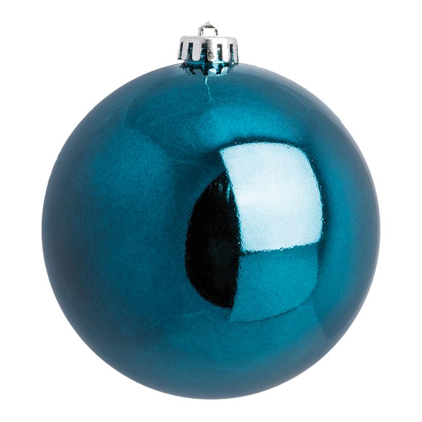 Weihnachtskugel, dunkelblau glänzend, Ø 14cm