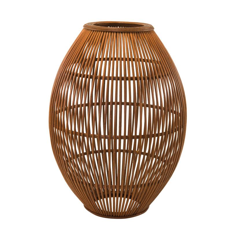 Lampenschirm, 35x35x50cm aus Flechtwerk, aus Holz