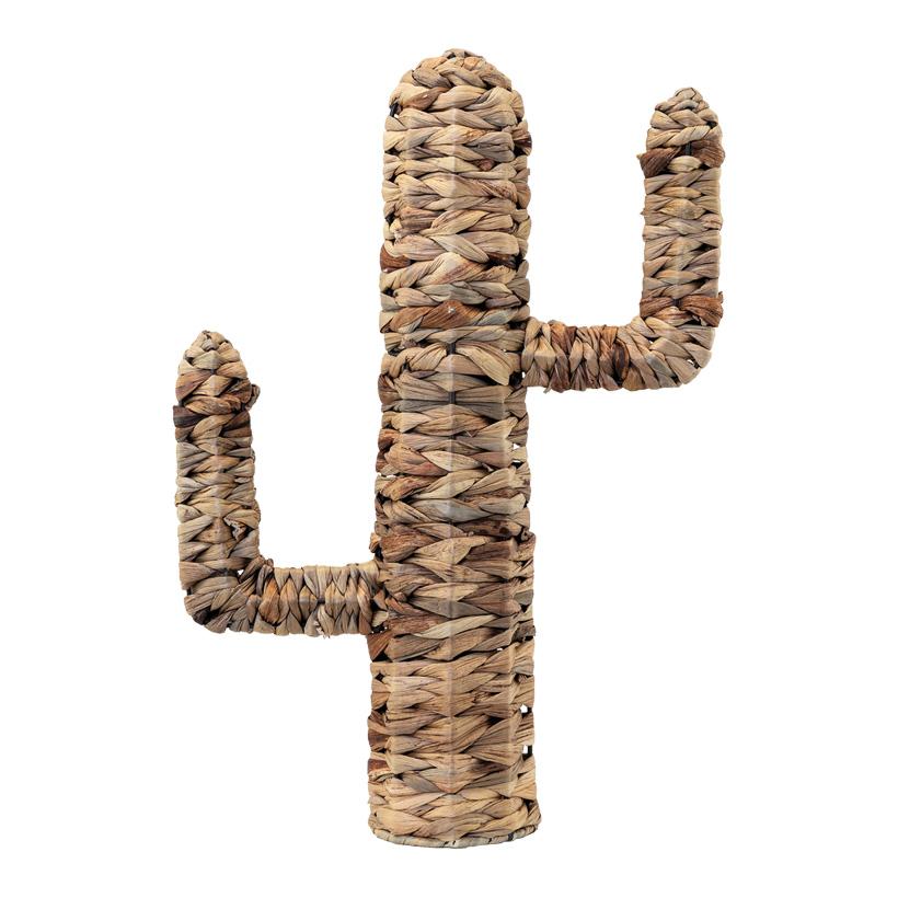 Kaktus, H: 46cm aus natürlichem Flechtmaterial