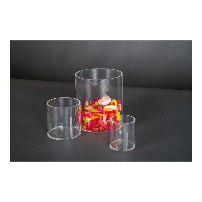 # Acryl-Zylinder, 15x15x17cm oben geöffnet
