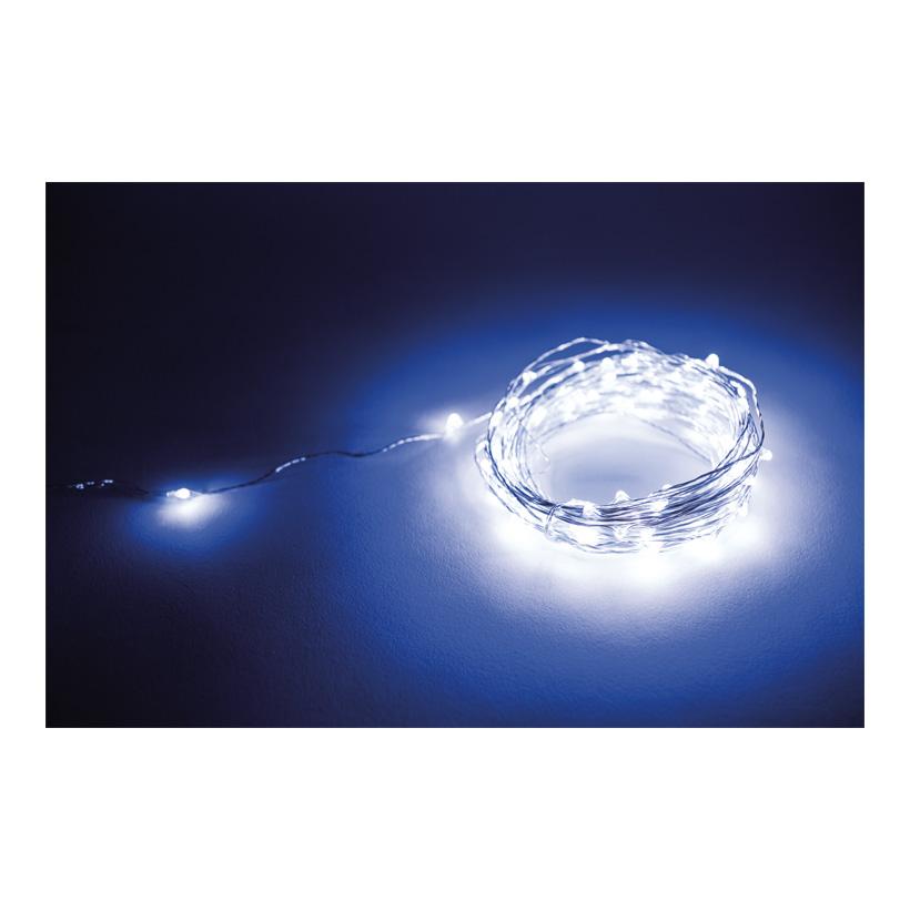 Faden Lichterkette mit 100 LEDs, 1000cm IP44 Stecker für außen