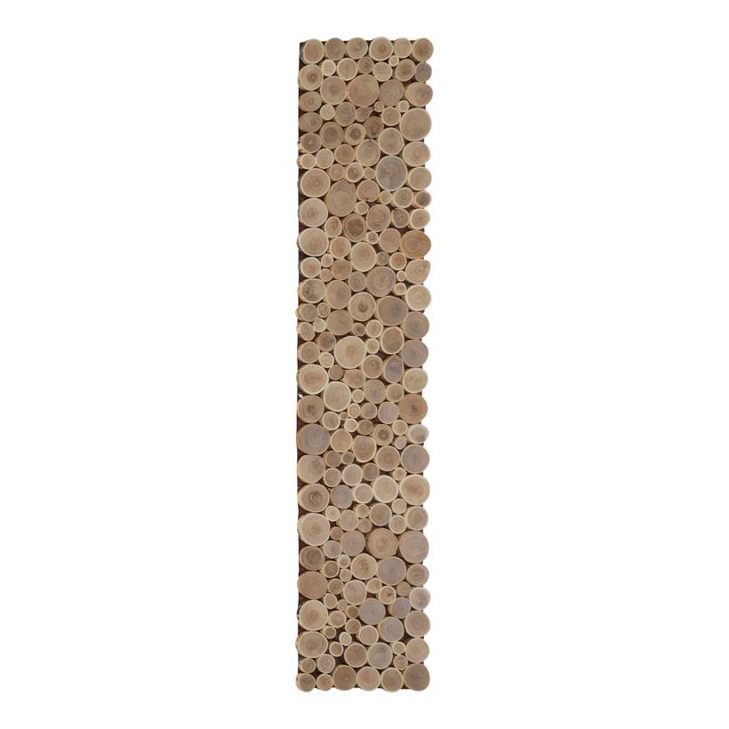 Holzscheibenmatte, 120x25cm